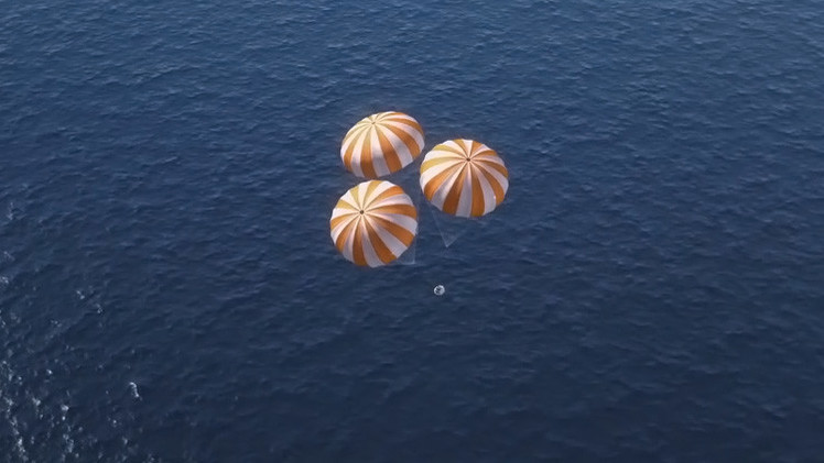 Video: El aterrizaje del Orion a vista de astronauta