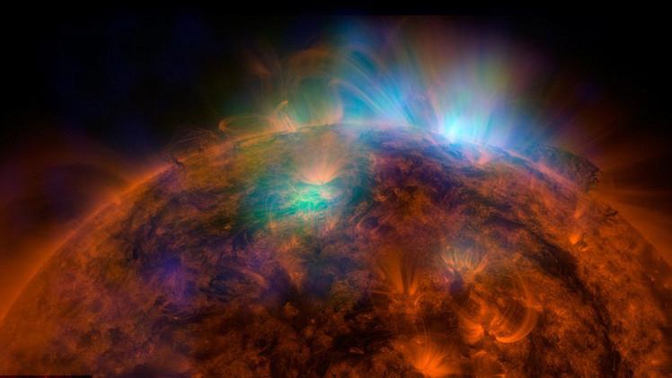 NASA publica una imagen impresionante de emisiones de rayos X en la superficie solar