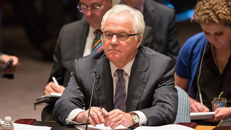 """Churkin: """"Para Rusia es inaceptable la aspiración de EE.UU. al liderazgo mundial"""""""