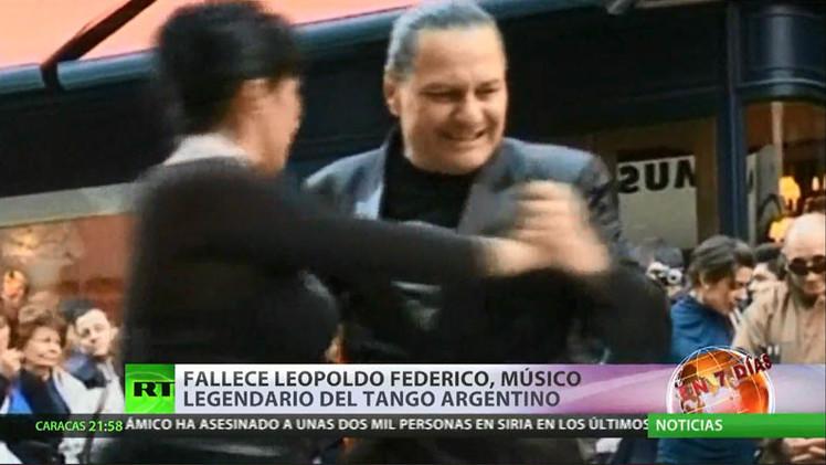 Muere Leopoldo Federico, leyenda del tango