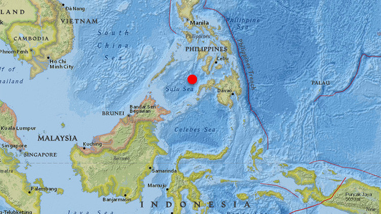 Un terremoto de 6 grados de magnitud sacude Filipinas
