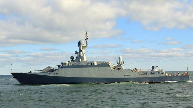 La flota rusa del Caspio recibe la nueva corbeta 'stealth'