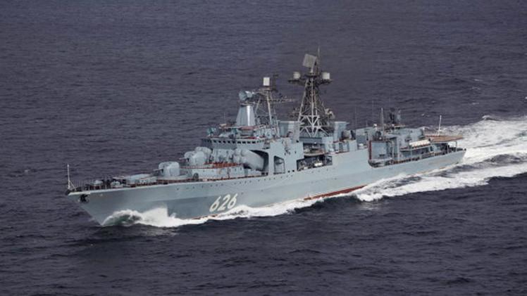 Un buque de la Armada rusa ha realizado entrenamientos en el canal de la Mancha