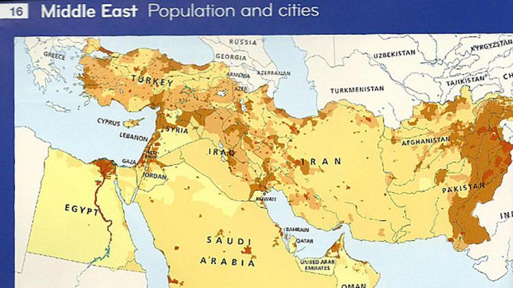 Una de las mayores editoriales internacionales borra a Israel de su mapa de Oriente Medio