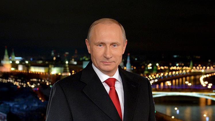 El presidente Vladímir Putin felicita al pueblo ruso con motivo del Año Nuevo