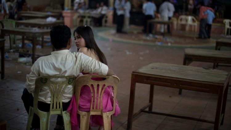 Una pareja en Camboya