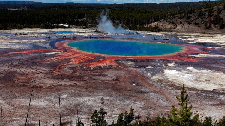 Las aguas termales de Yellowstone