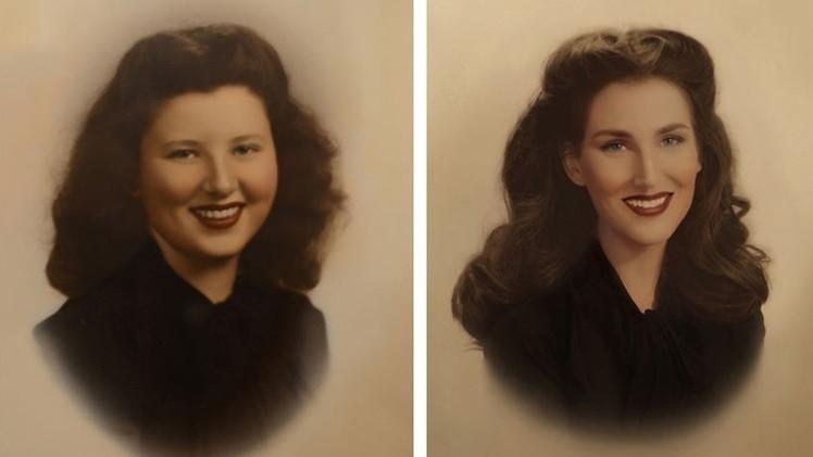 Una transformación increíble: una joven representada en siete generaciones