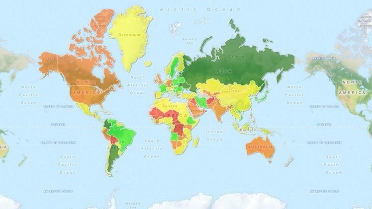 Mapa actualizado: las mujeres más atractivas del mundo