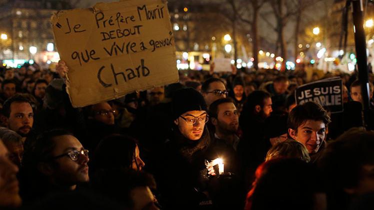 #JeSuisCharlie: Manifestación multitudinaria en apoyo de 'Charlie Hebdo' en París
