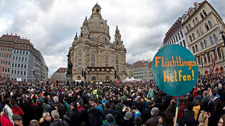 #Lovestorm: 35.000 personas marchan contra la xenofobia en Dresde