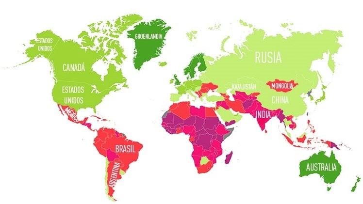 Mapas: Los países mejor preparados para sobrevivir al cambio climático