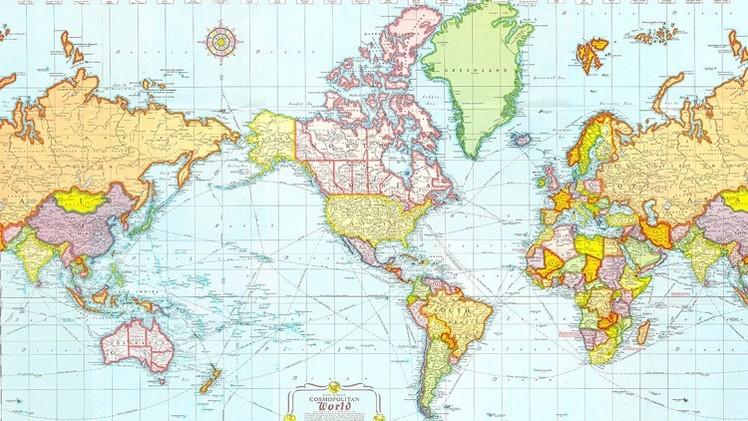 Mapas: ¿Cómo representan el mundo diferentes países?