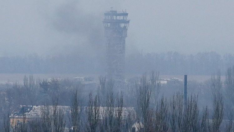Enfrentamientos en el aeropuerto de Donetsk