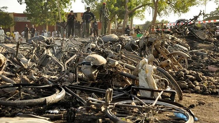 Impactantes imágenes del rastro de terror dejado por el grupo Boko Haram en Nigeria