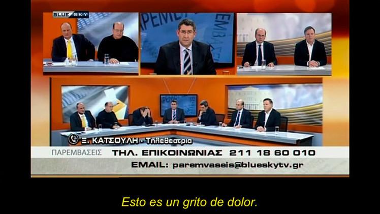 """Grito de dolor en la TV griega: """"¿Ha dormido sobre un colchón helado?"""""""