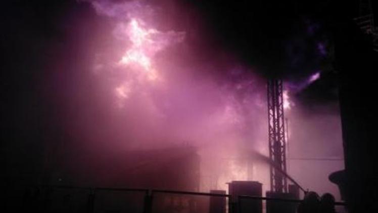 Reportan un incendio en una central nuclear de Ucrania