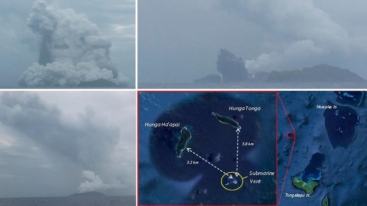 Un volcán forma una nueva isla en el Pacífico