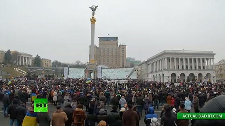 Kiev celebra una marcha en recuerdo de las víctimas del conflicto ucraniano