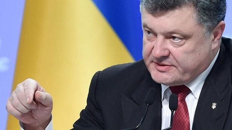 """Poroshenko exhorta a """"recuperar todo el Donbass"""""""