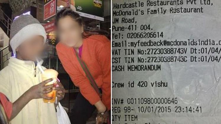 McDonald's echó a un niño pobre de su restaurante en la India