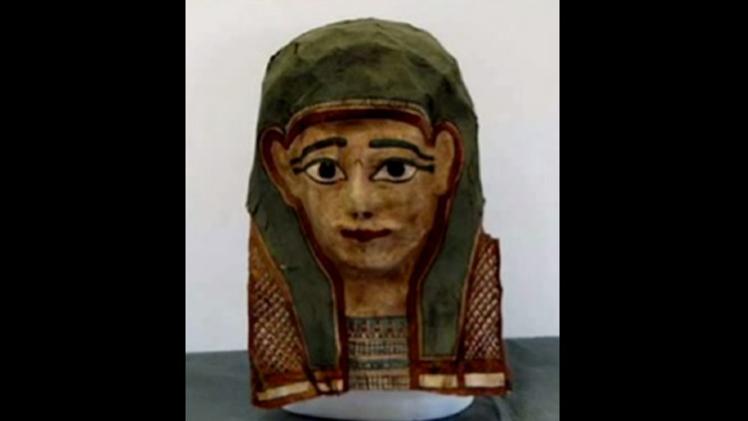 La máscara de una momia podría contener el más antiguo evangelio conocido