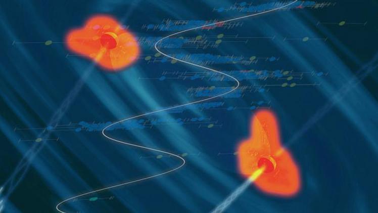 Hallan dos agujeros negros a punto de colisionar