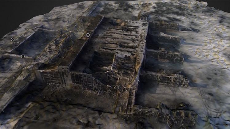 Vídeos: periodistas crean un 'modelo 3D' del destruido aeropuerto de Donetsk