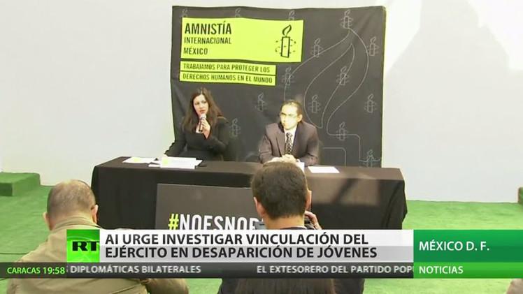 Amnistía Internacional urge investigar vinculación del Ejército en desaparición de 43 normalistas