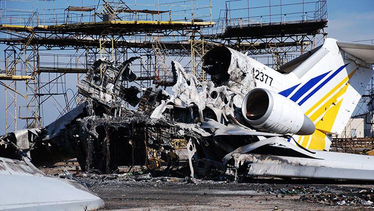 Video: El aeropuerto de Donetsk antes y después de los intensos combates