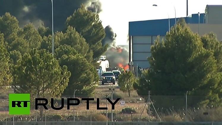 Primeras imágenes del caza de la OTAN accidentado en España