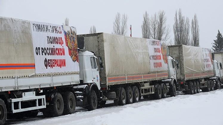 Rusia envía el duodécimo convoy de ayuda humanitaria para el este de Ucrania