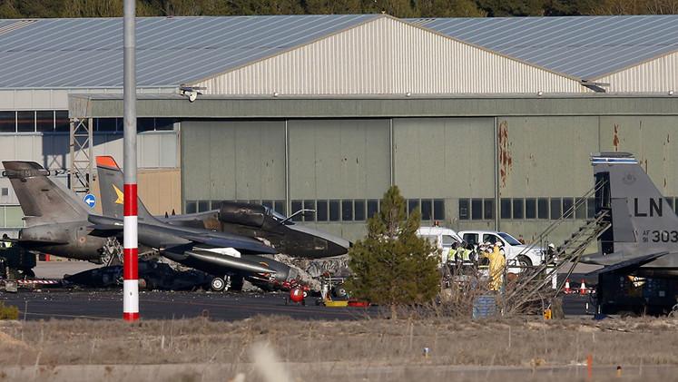 El avión de la OTAN se estrelló en Albacete por un fallo en el despegue