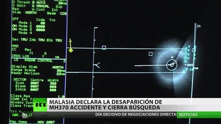 Malasia declara accidente la desaparición del MH370