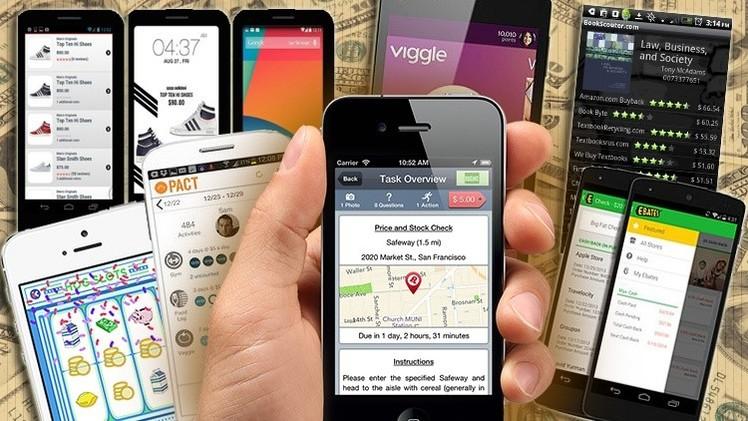 Aplicaciones móviles que pagan a usuarios