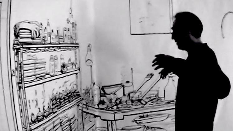 Videos: Un argentino convierte su casa en un enorme dibujo