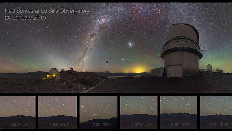 Fotos: Extraños 'duendes' iluminaron los cielos de Chile
