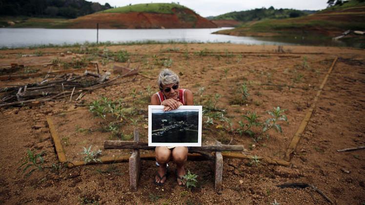 Fotos: Emerge una ciudad brasileña hundida hace 45 años
