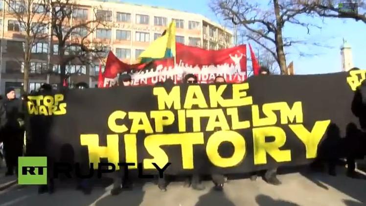 Protestas en Múnich: 'Paren a Poroshenko'