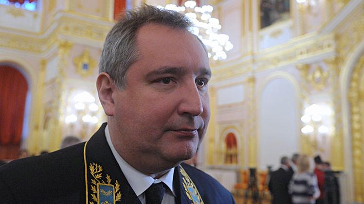 Dmitri Rogozin en una reunión oficial en el Kremlin