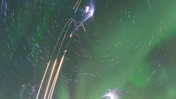 Video, fotos: Increíble aurora boreal ilumina los cielos de Rusia y EE.UU.