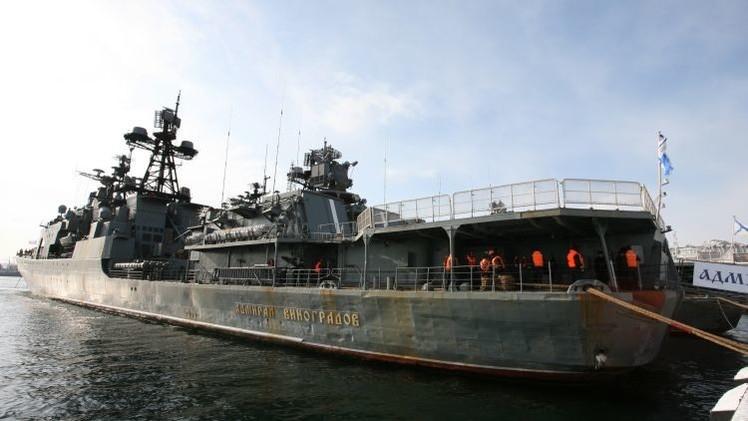 La Flota del Pacífico rusa pasa un control urgente en Kamchatka