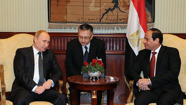 Vladímir Putin durante su visita a Egipto
