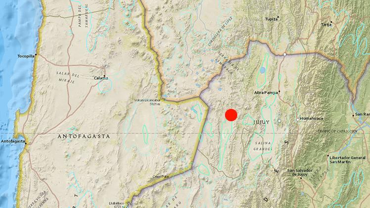 Un terremoto de magnitud 6,7 sacude Argentina, en la frontera entre Chile y Bolivia