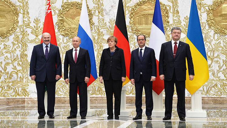 Continúan las decisivas conversaciones de Minsk sobre Ucrania tras más de 15 horas