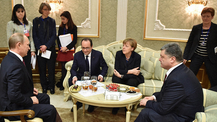 El 'cuarteto de Normandía' en la reunión de Minsk