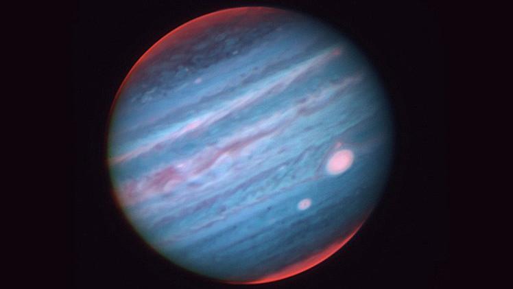La Gran Mancha Roja de Júpiter se vuelve blanca en una nueva imagen infrarroja