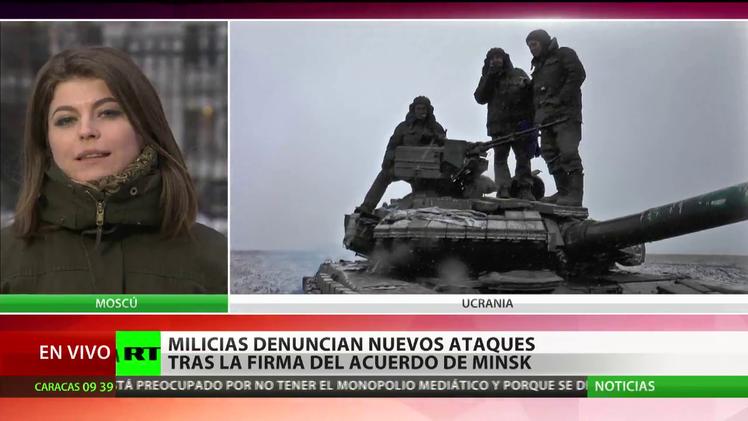 Las autodefensas del este ucraniano denuncian nuevos ataques tras el acuerdo de paz