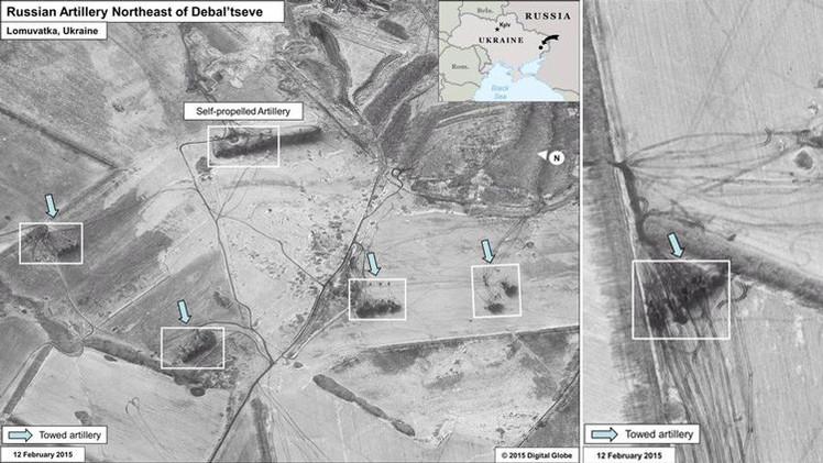 """Moscú:  Solo EE.UU. ve al Ejército ruso en """"las manchas oscuras"""" de unas fotos"""