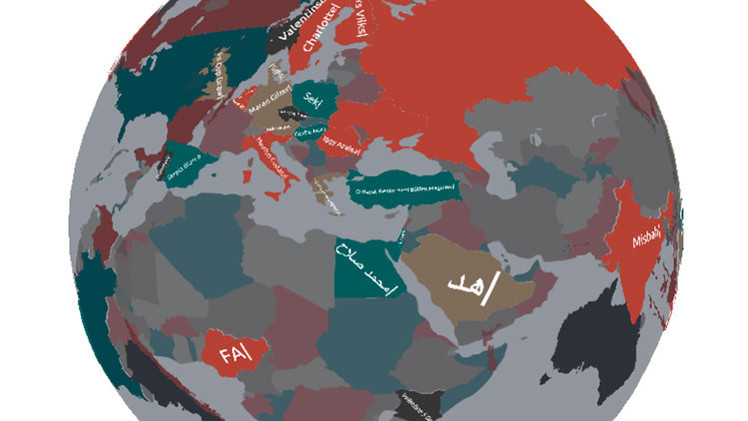 Crean un mapa 3D que revela los intereses de los internautas